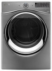 Whirlpool - Duet 7.4 Cu. Ft. 10-Cycle Steam Electric Dryer - Chrome Shadow