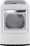 LG - SteamDryer 7.3 Cu. Ft. 12-Cycle Ultralarge-Capacity Steam Gas Dryer - White