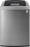 LG - 4.3 Cu. Ft. 8-Cycle Ultralarge-Capacity High-Efficiency Top-Loading Washer - Graphite Steel