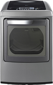 LG - SteamDryer 7.3 Cu. Ft. 12-Cycle Ultralarge-Capacity Steam Electric Dryer - Graphite Steel
