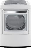 LG - SteamDryer 7.3 Cu. Ft. 12-Cycle Ultralarge-Capacity Steam Electric Dryer - White
