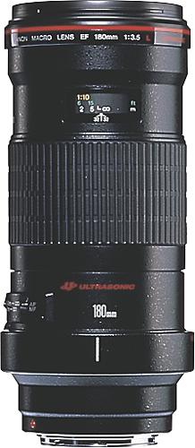 Canon - EF 180mm f/3.5L Macro USM Lens - Black