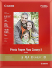 "Canon - 20-Pack 8.5"" x 11"" Glossy Photo Paper - White"