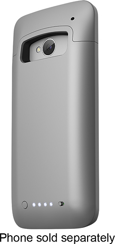 mophie - Juice Pack Charging Case for HTC One Cell Phones - Silver