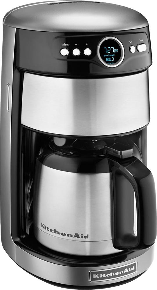 KitchenAid - 12-Cup Coffeemaker - Contour Silver