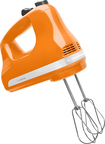 KitchenAid - 5-Speed Hand Mixer - Tangerine