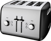 KitchenAid - 4-Slice Wide-Slot Toaster - Onyx Black