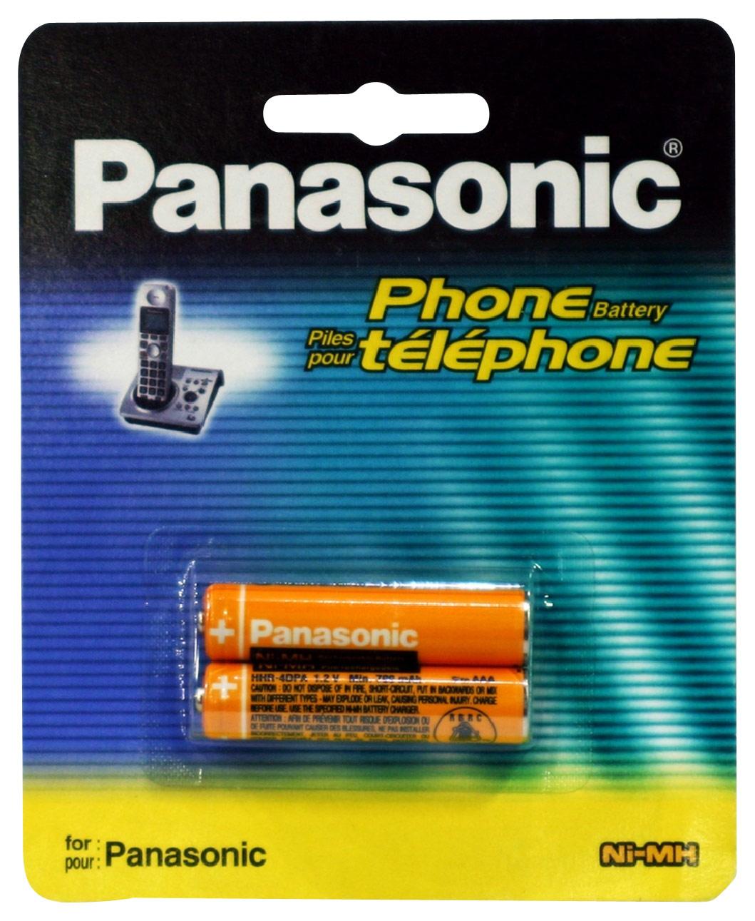 Panasonic - Rechargeable Battery for Select Panasonic Cordless Telephones - Orange