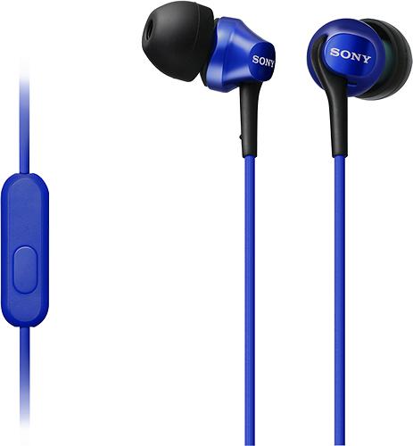 Sony - Earbud Headphones - Blue