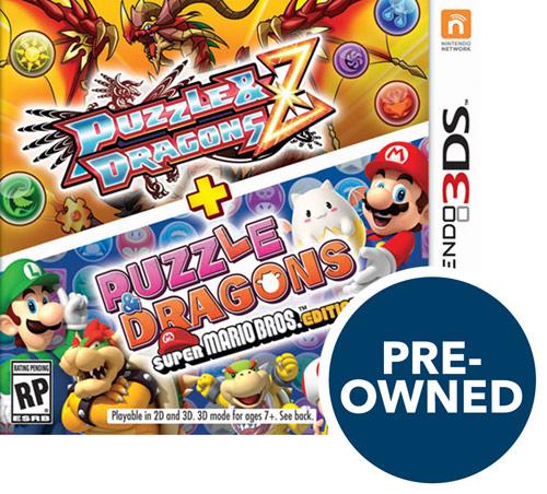 Puzzle & Dragons Z + Puzzle & Dragons Super Mario Bros. Edition - PRE-Owned - Nintendo 3DS|Nintendo 2DS|Nintendo 3DS XL