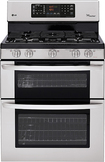 """LG - 30"""" Self-Cleaning Freestanding Double Oven Gas Range - Stainless Steel"""