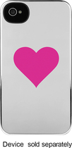 Incase - Graphic Series Snap Case for Apple® iPhone® 4 and 4S - Silver/Pink