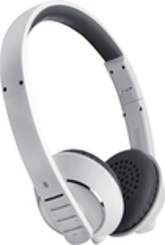 MEElectronics - Air-Fi Runaway Bluetooth Wireless On-Ear Headphones - White/Gray