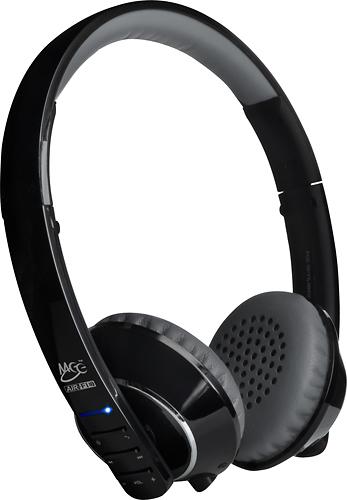 MEElectronics - Air-Fi Runaway Bluetooth Wireless On-Ear Headphones - Black/Gray