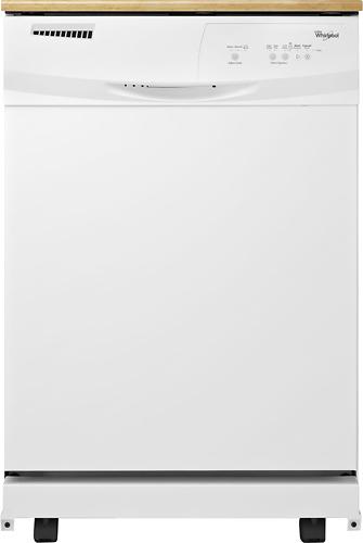 "Whirlpool - 24"" Portable Dishwasher - White"