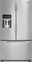 KitchenAid - Architect Series II 28.6 Cu. Ft. French Door Refrigerator with Thru-the-Door Ice and Water - Monochromatic Stainless-Steel
