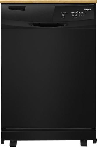 "Whirlpool - 24"" Portable Dishwasher - Black"