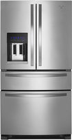 Whirlpool - 25.0 Cu. Ft. French Door Refrigerator with Thru-the-Door Ice and Water - Monochromatic Stainless-Steel