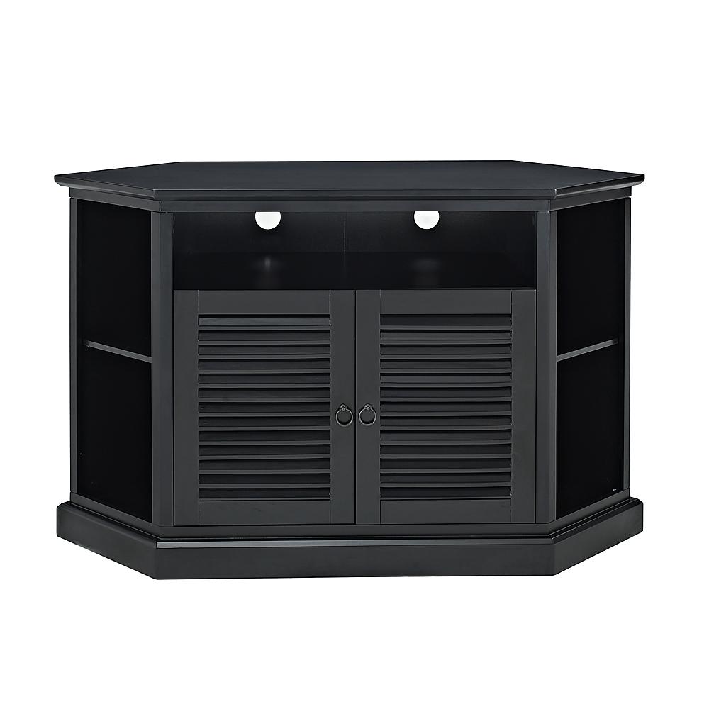 "Walker Edison - Corner TV Stand for Flat-Panel TVs Up to 55"" - Black"