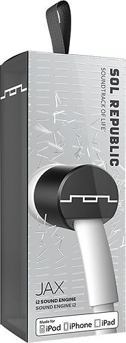SOL REPUBLIC - Jax Earbud Headphones - White/Black