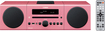 Yamaha - 30W Micro Component Bluetooth Wireless System with Apple® iPod®/iPhone® Dock - Pink