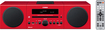 Yamaha - 30W Micro Component Bluetooth Wireless System with Apple® iPod®/iPhone® Dock - Red