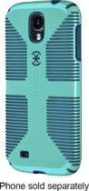 Speck - CandyShell Grip Case for Samsung Galaxy S 4 Cell Phones - Caribbean Blue/Dark Blue
