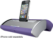 iHome - Portable Stereo Speaker System for Select Apple® iPod® and iPhone® Models - Purple/Silver
