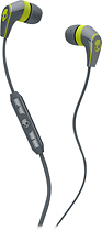 Skullcandy - 50/50 Earbud Headphones - Gray/Hot Lime
