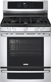 "Electrolux - 30"" Self-Cleaning Freestanding Gas Convection Range - Stainless-Steel"