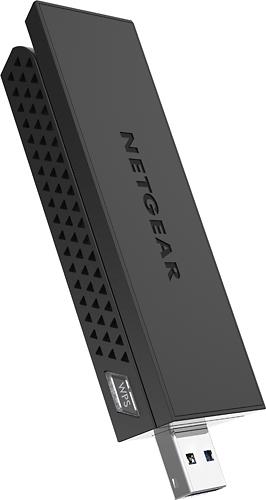 NETGEAR - AC1200 Wireless-AC High-Gain Wi-Fi USB 3.0 Adapter - Black