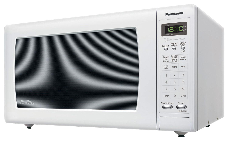 Panasonic - 1.6 Cu. Ft. Mid-Size Microwave - White