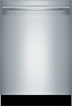 "Bosch - 300 Series 24"" Tall Tub Built-In Dishwasher - Stainless-Steel"