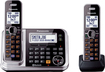 Panasonic - Link2Cell DECT 6.0 Plus Expandable Cordless Phone System with Digital Answering System - Multi