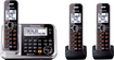 Panasonic - Link2Cell DECT 6.0 Plus Expandable Cordless Phone System with Digital Answering System - Silver