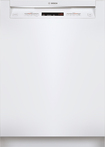 """Bosch - 300 Series 24"""" Tall Tub Built-In Dishwasher - White"""