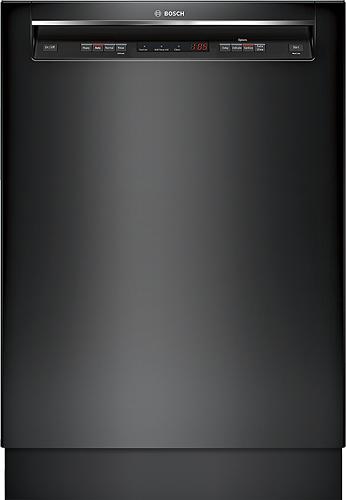 "Bosch - 300 Series 24"" Tall Tub Built-In Dishwasher - Black"