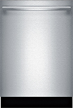"Bosch - Ascenta 24"" Tall Tub Built-In Dishwasher - Stainless-Steel"