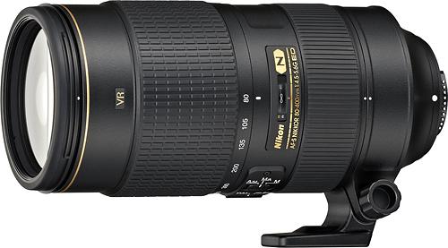 Nikon - AF-S NIKKOR 80-400mm f/4.5-5.6G ED VR Telephoto Zoom Lens - Black