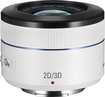 Samsung - 45mm f/1.8 2D/3D Lens for Samsung Cameras with NX Mounts - White