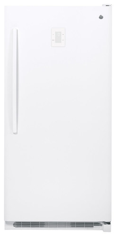 GE - 20.2 Cu. Ft. Frost-Free Upright Freezer - White