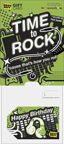 Best Buy GC - $15 Time to Rock-'Cause That's How You Roll Gift Card - Multi