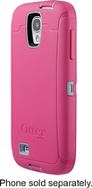 OtterBox - Defender Series Case for Samsung Galaxy S 4 Mobile Phones - Powder Gray/Blaze Pink