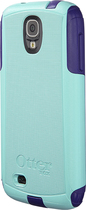 OtterBox - Commuter Series Case for Samsung Galaxy S 4 Mobile Phones - Aqua Blue/Lily