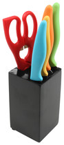 Gibson - Colorsplash Primary Basics 6-Piece Preparation Knife Set - Red/Orange/Green/Yellow/Blue/Black