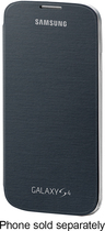 Samsung - Flip-Cover Case for Samsung Galaxy S 4 Mobile Phones - Black