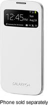 Samsung - S-View Flip-Cover Case for Samsung Galaxy S 4 Mobile Phones - White