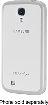 Samsung - Protective Cover + Case for Samsung Galaxy S 4 Mobile Phones - White