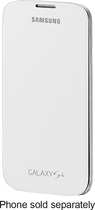 Samsung - Flip-Cover Case for Samsung Galaxy S 4 Mobile Phones - White