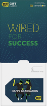 BestBuyGC - $100 Wired for Success-Happy Graduation Gift Card - Multi